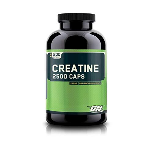 Optimum Nutrition Micronized Creatine Monohydrate Capsules, Keto Friendly, 2500mg, 200 Capsules