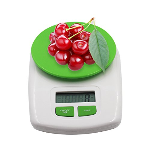 Digital Electronic Kitchen Cooking Gram Scale Measuring Food Weight Scale with Stainless Steel Platform Green