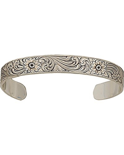 Montana Silversmiths Women's Antiqued Classic Engraved Narrow Cuff Silver One - Cuff Silver Narrow