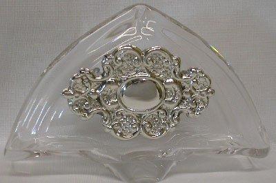 Silver Sterling Holder Napkin - Crystal & Sterling Silver Napkin Holder