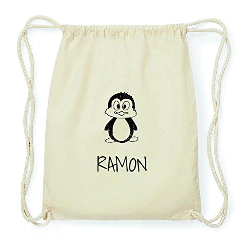 JOllipets RAMON Hipster Turnbeutel Tasche Rucksack aus Baumwolle Design: Pinguin
