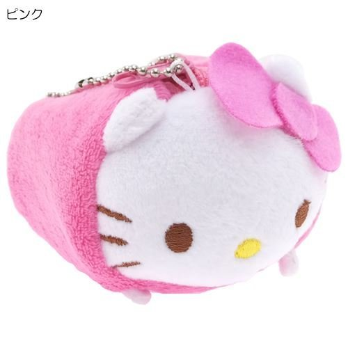 Sanrio Hello Kitty (Pink) Roll Plush Coin Purse Tsum Tsum style / Accessories Case/ Porch with a ball chain (Japan (Hello Kitty Roll)