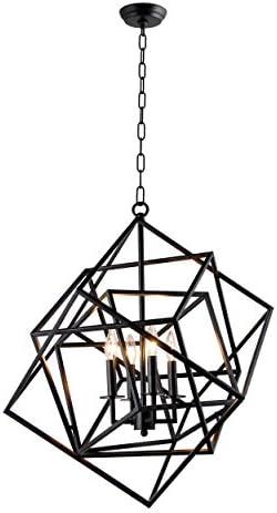 AA Warehousing LZ1183-4B 4 Light Chandelier in Black Finish