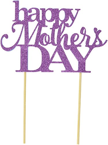 All About Details Purple Happy Mother's Day Cake Topper