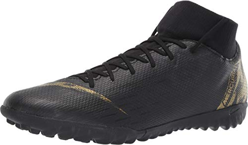 Nike Men's SuperflyX 6 Academy Artificial-Turf Soccer Shoes (12 M US, Black/Gold)