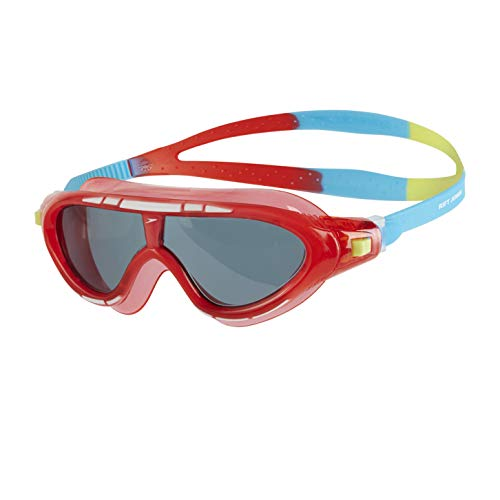 Speedo Unisex Child Biofuse Rift Goggles, Lava Red/Japan Blue/Smoke, One...
