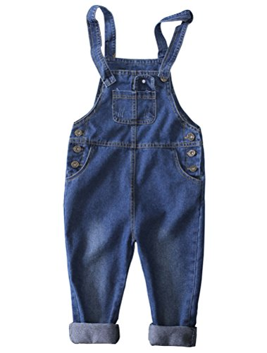 Mallimoda Girls Denim Shortalls Jeans Romper Overalls