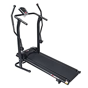 EFITMENT Adjustable Incline Manual Magnetic Treadmill with Arm Exercisers and Pulse Monitor T017