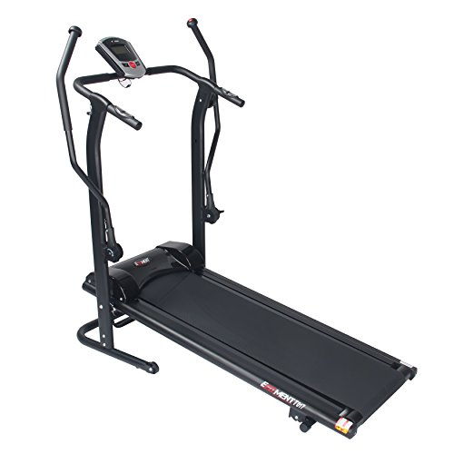 EFITMENT Adjustable Incline Manual Magnetic Treadmill with Arm Exercisers and Pulse Monitor - T017
