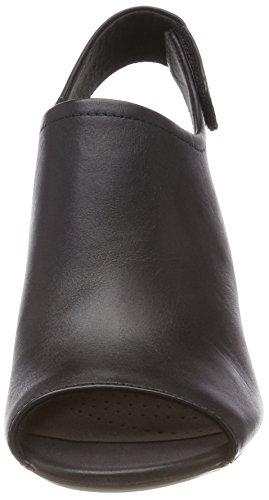 alla Black Caviglia Cinturino Nero Donna Jayleen Leather Clarks Deva Sandali con xXnpR4
