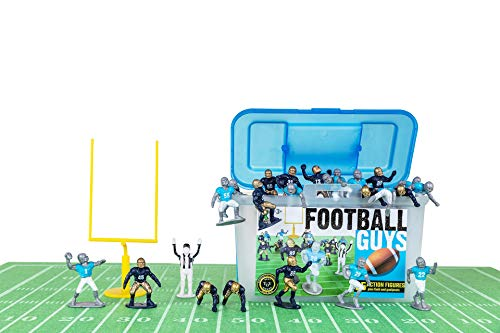 Kaskey Kids Football Guys - Navy/Light Blue Inspires Kids Imaginations with Endless Hours of Creative, Open-Ended Play - Includes 2 Teams & accessories - 28 pieces in every