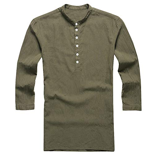 Men/'s Baggy Cotton Long Sleeve Tops Loose V-neck Pullover Tops Shirts Tee Tops