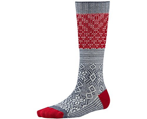 Smartwool Women's Snowflake Flurry Socks (Medium Gray) Small