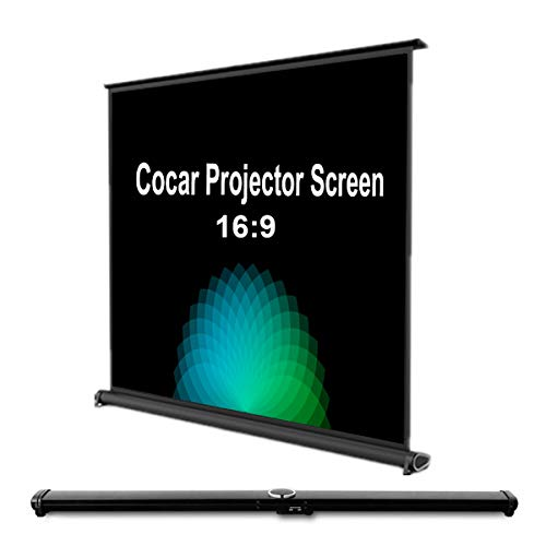 Cocar 50 Portable Movie Screen 16:9 for Mini/Professional LED/LCD/DLP Projector Self Standing Installation Free Pull-Out Style Indoor Outdoor Home Cinema 3D 4K HD Movie ¡