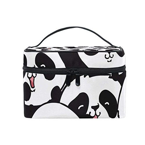Bag It The Avon (Cosmetic Case Bag Black And White Panda Head Portable Travel Makeup Bag Toiletry Organizer)
