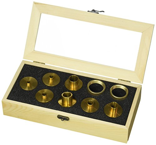 - Big Horn 19604 Brass Router Bushing Set, 9-Piece