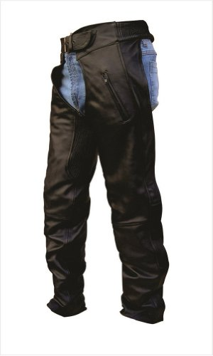 Unisex Adult AL2451 Chaps X-Large Black by Allstate Leather