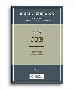 Book Biblia Hebraica Quinta: Job