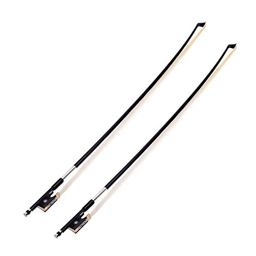 Kmise A8036 Black Carbon Fiber Stunning 4/4 Violin Bow, 2 Sets