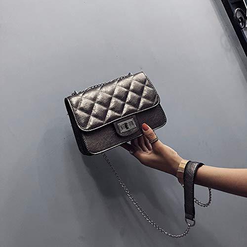 WSLMHH Messenger Femme Petit chaîne Mode Fille Sac bandoulière marée Champagne Sauvage Sac carré Bag PPtAxr