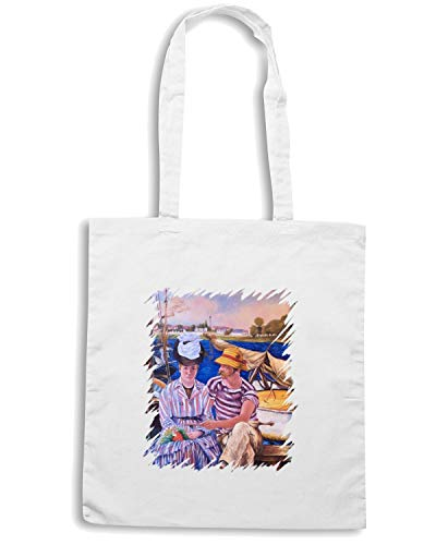 Shopper MANET146 Speed Shirt TDA0014 Bianca ARGENTUIL Borsa qz4Ex4wRX