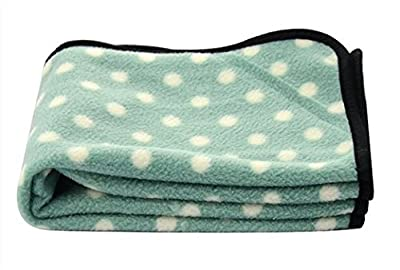 Color You Small Pet Dog Cat Puppy Kitten Soft Fleece Blanket Mat Pad Bed with Spot Design For Car, Lap, Sofa, Pet Bed, Crate, Kennel and Carrier by Color You