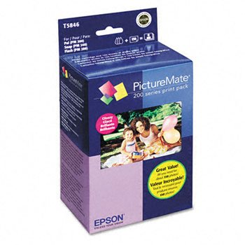 Epson® PictureMate 200-Series Print Pack PAPER,PRINT PK,150SHT,GLS (Pack of (Picturemate Series)