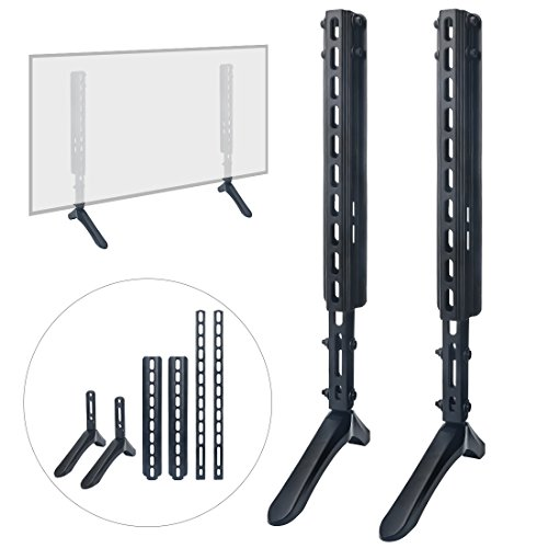 """Louty Universal TV Stand Table Top for Most 32""""-65""""LCD Flat Screen TV, Desktop and Wall-Mounted, Applied to 3Types of TV, Adjustable Height/Tilt ()"""