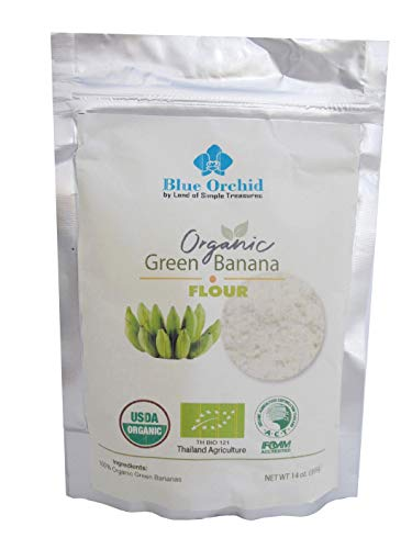 Organic Green Banana Flour Pre-biotic Grain-free Resistant Starch 14 oz (Best Resistant Starch Foods)