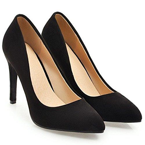 10CM Stiletto Mujer Cordones Sin Black Zapatos RAZAMAZA tYxOaqBwx