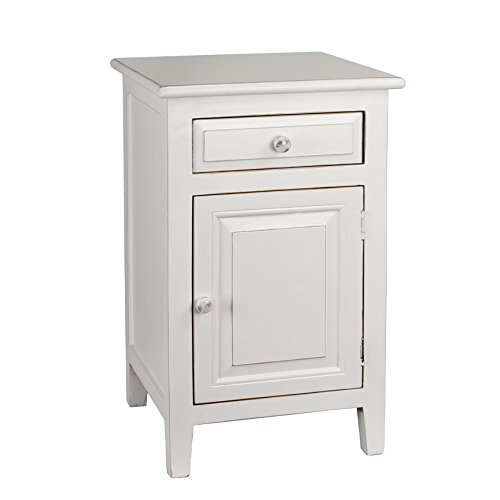 Antique White Wood Nightstand (Antique Revival Evelynn Nightstand, White)