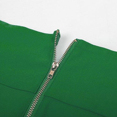 Bodycon Cocktail Dress Shoulder Vintage Belle Dresses Women's Poque Party Green Off ZwHccn8gzW
