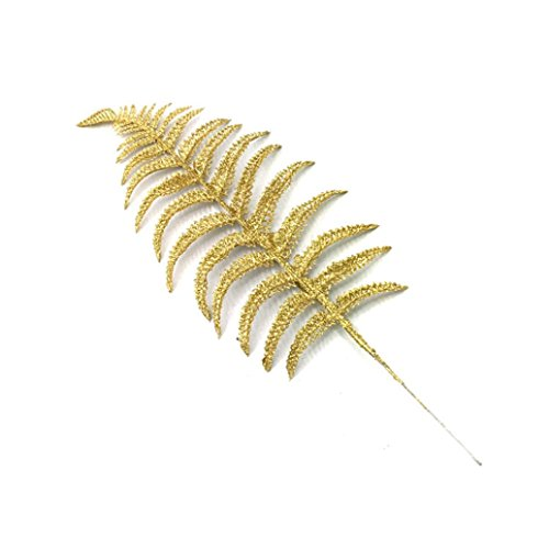 GBSELL 10Pcs Christmas Tree Branches Leaves Xmas Decoration Gift (Gold) - Ornament Gold Leaf