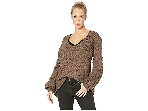 Free People Crashing Waves Pullover Cocoa SM (Women's 4-6)
