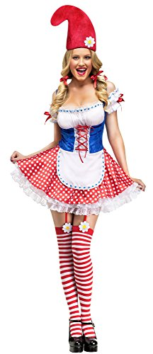 Adult Size Female Gnome Costume Christmas Elf - Size: -