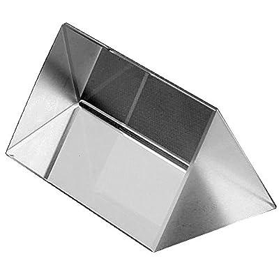 "2.5"" Amlong Crystal® Optical Glass Triangular Prism for Teaching Light Spectrum Physics 60mm"