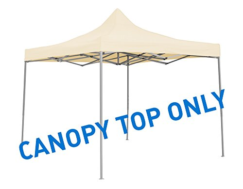 Trademark Innovations Square Replacement Canopy Gazebo Top, 9.6 x 9.6 , Cream