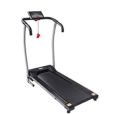 Folding Electric Treadmill, Black