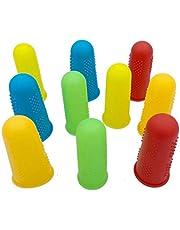 Silicone Finger Protector,JDWG 10 pcs Finger Covers Finger Cots, Hot Glue Gun Finger Caps, Finger Sleeves,Great for Trigger Finger/Finger Cracking/Finger Arthritis/Finger Callus. (Mix color)