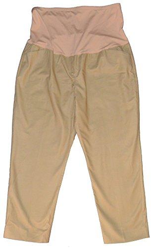 Crop Pant Maternity Twill (GAP Maternity Khaki Slim Crop Full Panel Twill Pants 20)