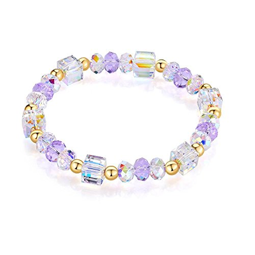 Daeou Crystal sugar bracelet Purple crystal hand string