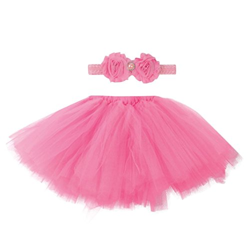 Clearance! Newborn Baby Girls Photo Photography Prop Tutu Skirt Headband Outfit Clothes Set (Baby Shower Clearance)