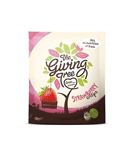 (8 PACK) - Giving Tree Freeze Dried Strawberry Crisps| 18 g |8 PACK - SUPER SAVER - SAVE MONEY Giving Tree Ventures