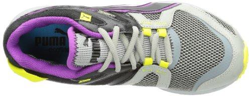 Puma Pumafox v2 GTX Wn's - Zapatillas de correr de material sintético mujer gris - Grau (limestone gray-black-sparkling grape 01)