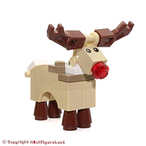 LEGO Holiday / Christmas MiniFigure Animal: Reindeer (Rudolph with Red Nose) 10245
