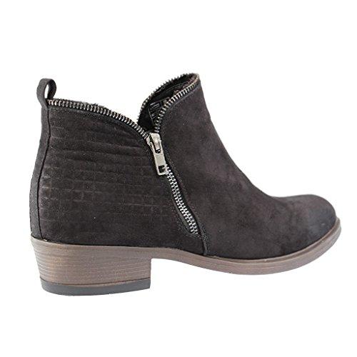 Lena Tamanhos De Montadores Botas Calçado Mais Em Pretos Sapatos Mulheres OTCtwq