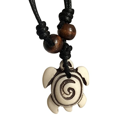 - Adeley Sea Turtle with Adjustable Cotton Cord Surfer Necklace Beach Hawaiian Style