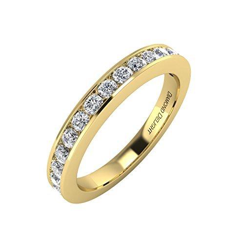 IGI Certified 14K Yellow Gold Wedding/anniversary Diamond Band Ring (1/2 Carat) - 1/2 Ct Diamond Wedding Ring