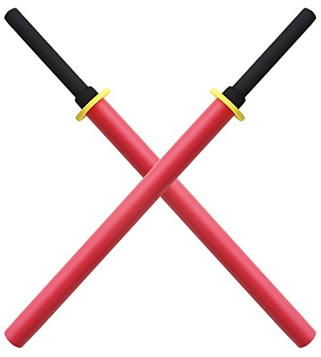Set 2X Batons Bokken Mousse Red Edition E413-RX2 Entrainement Pack Lot Epee Repliksword