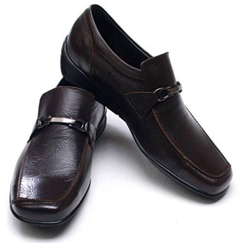 Epicstep Mens In Vera Pelle Elegante Abito Da Lavoro Formale Casual Comfort Scarpe Oxfords Mocassini Marrone